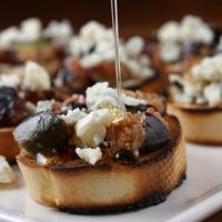 Grilled Fig and Gorgonzola Bruschetta
