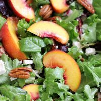 Peach Lime Dark Chocolate Salad