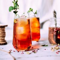 Sweet Peach Balsamic Iced Tea