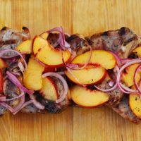 Peach Garlic Pork Chops
