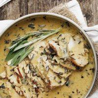 Pork Loin with Wild Mushroom Gravy