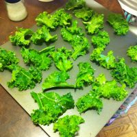 Baked Pesto Kale Chips